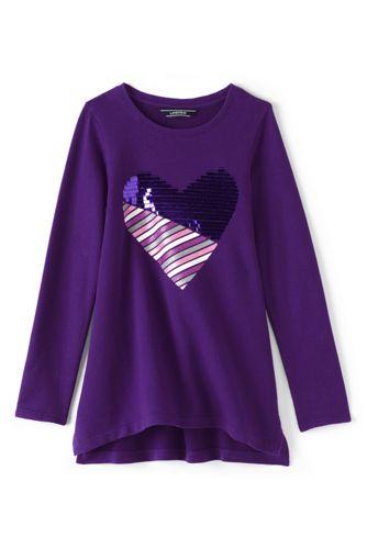Little Girls' Embellished Sweatshirt Legging Top