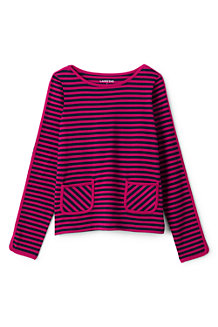 Girls' Stripe Pocket Boatneck Jersey Top