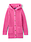 Girls' Hooded Cotton Blend Coatigan