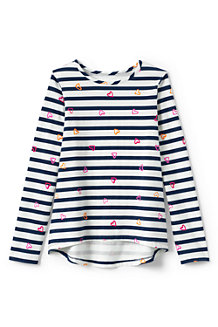 Girls' Patterned Long Sleeve Jersey Tee