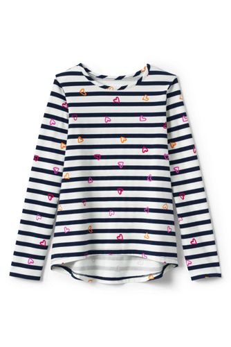 Toddler Girls' Patterned Long Sleeve Jersey Tee