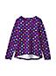 Le T-Shirt Ourlet Arrondi à Motifs et Manches Longues, Fille