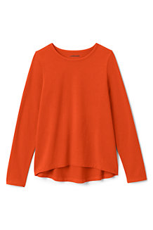 Girls' Plain Long Sleeve Jersey Tee
