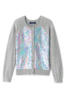 Girls' Embellished Crew Neck Sophie Cardigan