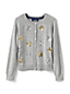 Little Girls' Embellished Crew Neck Sophie Cardigan