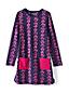 La Robe en Coton Stretch à Motifs et Manches Longues, Toute Petite Fille