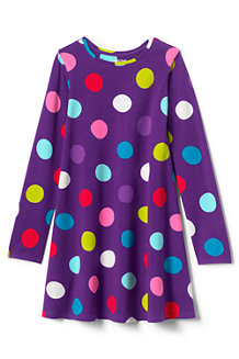Girls' Jersey Knit Twirl Dress