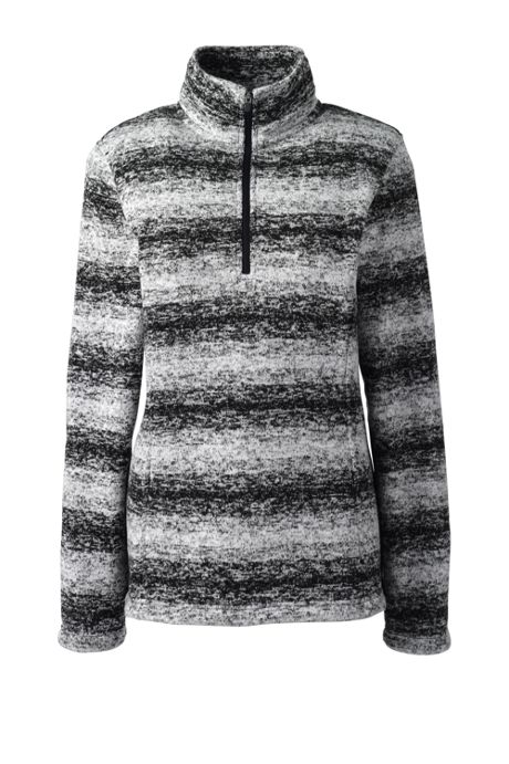 Women's Plus Size Petite Classic Fleece Quarter Zip Pullover