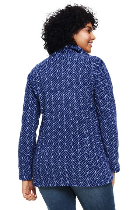 Women's Plus Size Petite Classic Fleece Quarter Zip Pullover