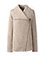 Fleece-Jacke mit Wasserfallkragen