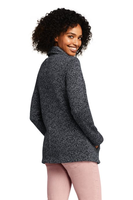 Women's Sweater Fleece Asymmetrical Jacket