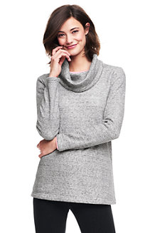 Women's Cowl Neck Super-soft Fleece Tunic
