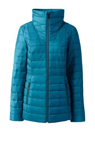 PrimaLoft-Jacke mit weitem Kragen für Damen