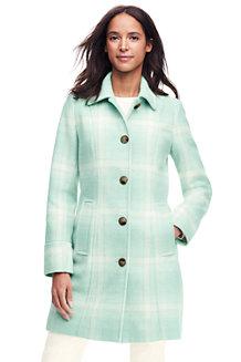 Women's Wool Blend Patterned Car Coat