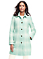 Le Manteau Classique en Laine Mélangée à Motifs, Femme Stature Standard