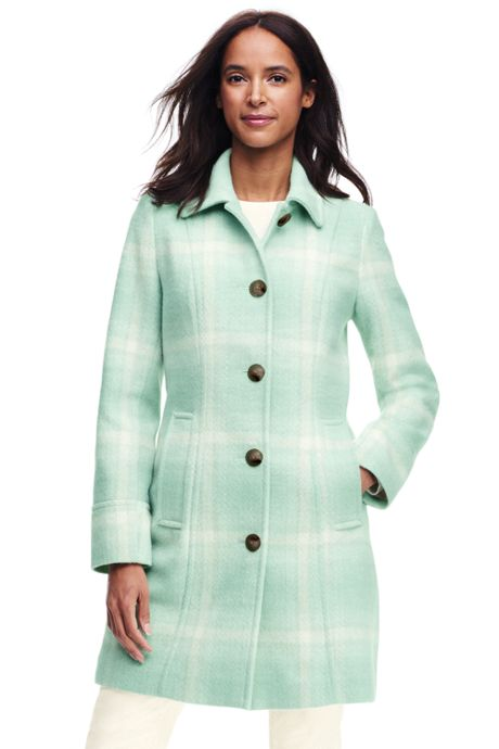 Women's Petite Wool Car Coat