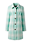 Women's Wool Blend Patterned Car Coat