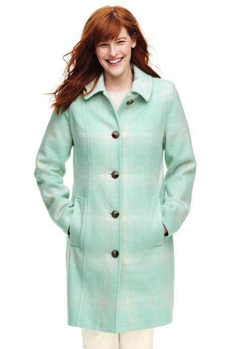 Women's Plus Size Wool Car Coat
