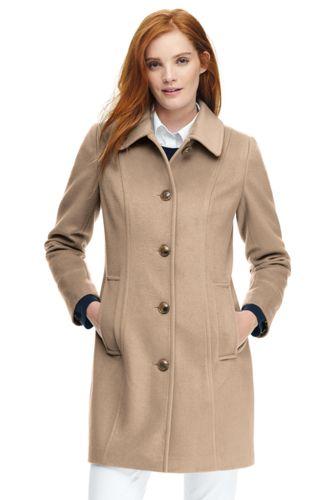 Women's Wool Blend Car Coat