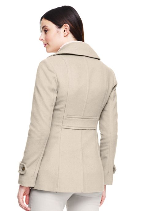 Women's Petite Wool Peacoat