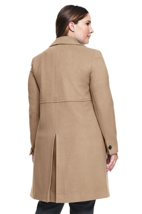 Women's Plus Size Petite Wool A-line Coat