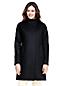 Le Manteau mi-long  en Laine Mélangée, Femme Stature Standard