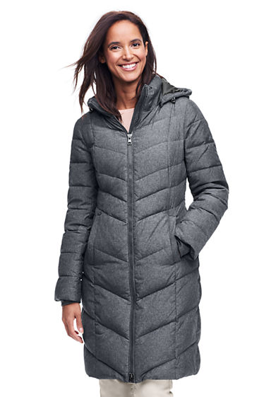 Women's Long Chalet Down Coat from Lands' End