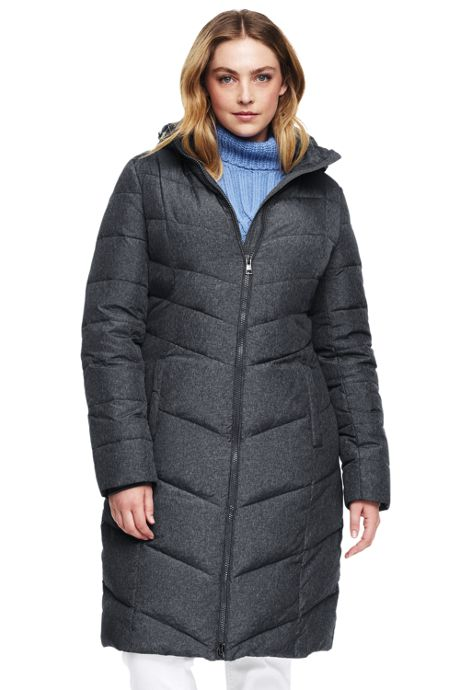 Women's Plus Size Petite Chalet Long Down Coat