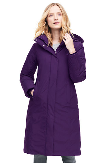 Women's Commuter Long Down Coat from Lands' End