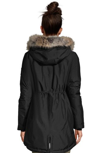 Women's Petite Expedition Waterproof Down Winter Parka with Faux Fur Hood