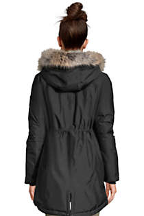 Women's Expedition Waterproof Down Winter Parka with Faux Fur Hood, Back