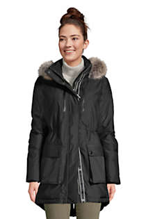 Women's Expedition Waterproof Down Winter Parka with Faux Fur Hood, Front