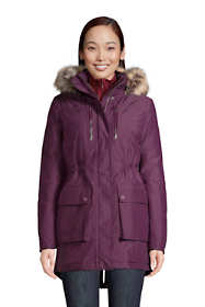 Women's Tall Expedition Waterproof Down Winter Parka with Faux Fur Hood