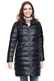 Women's Petite Lightweight Down Hooded Coat