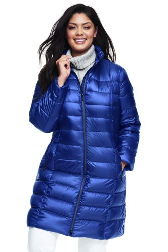 women's plus size lightweight down coat from lands' end