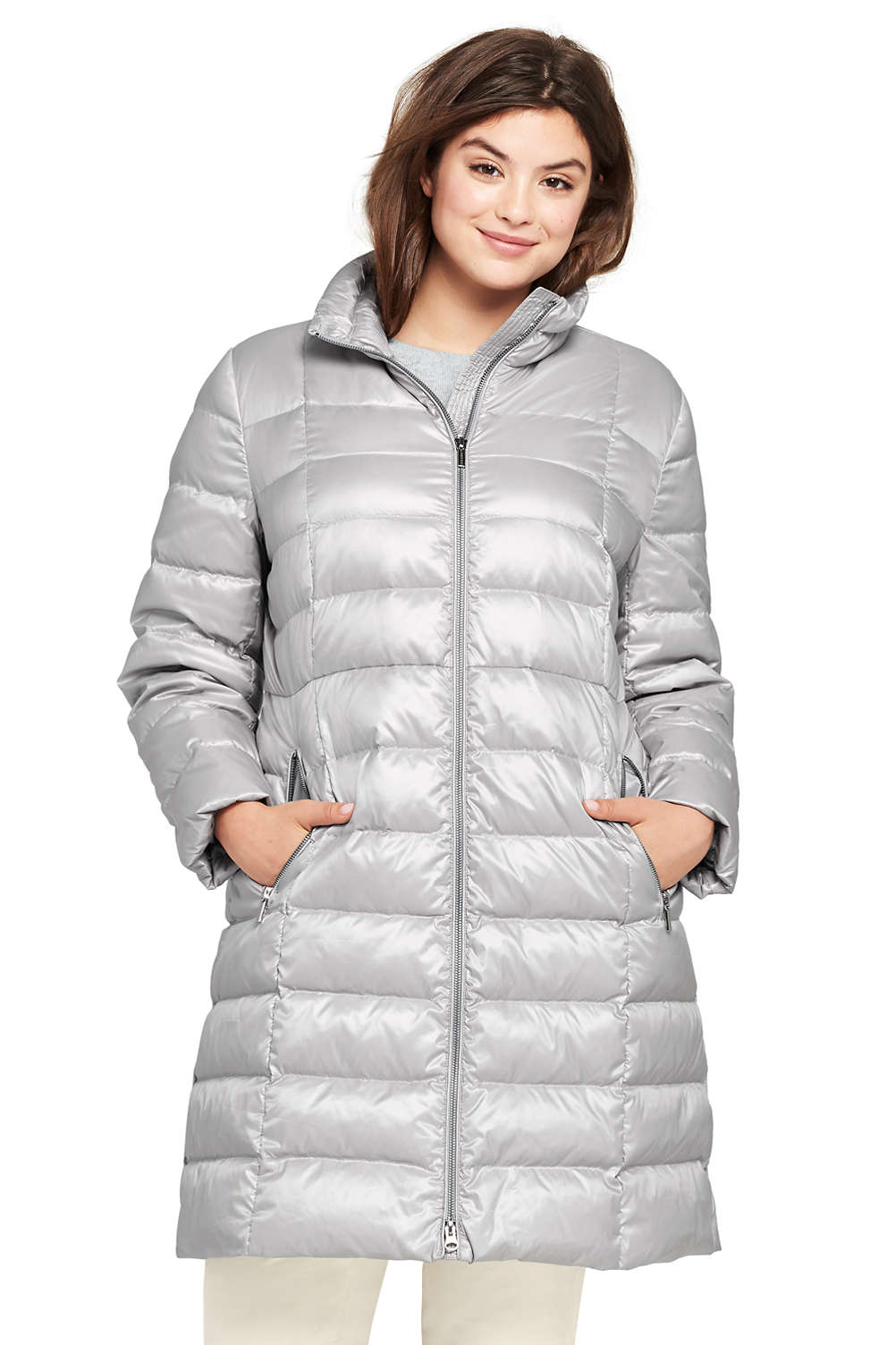 Women s Plus Size Lightweight Down Coat from Lands  End aae24a56a