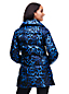 Le Manteau Court Évasé en Duvet à Motifs, Femme Stature Standard