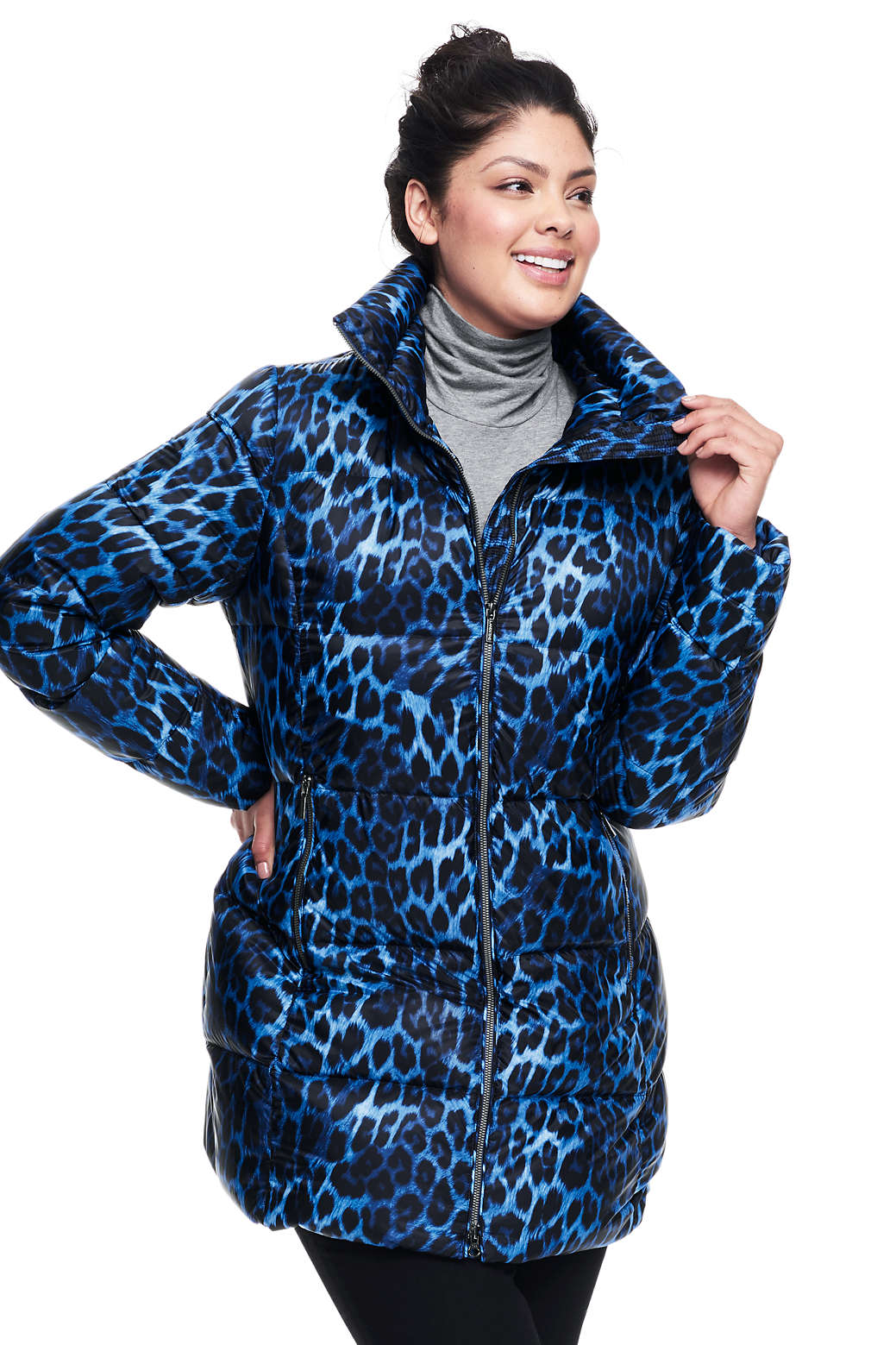 db1e1cd46ea Women s Plus Size Lightweight Down A-line Coat from Lands  End