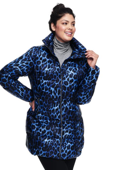Women's Petite Plus Size Lightweight Down A-line Coat