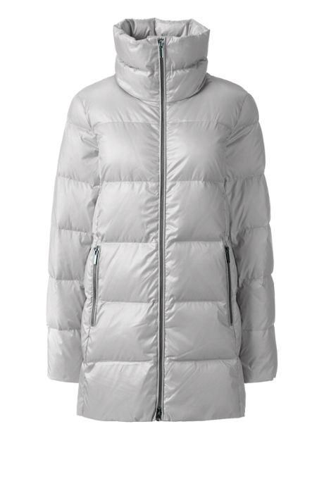 Women's Plus Size Petite Lightweight Down A-line Coat