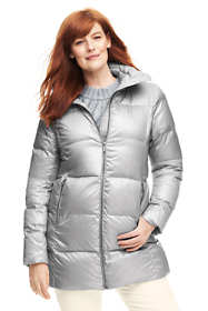 Women's Plus Size Petite Lightweight Down A-line Coat