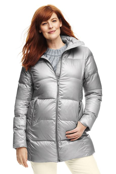 Women's Plus Size Lightweight Down A-line Coat