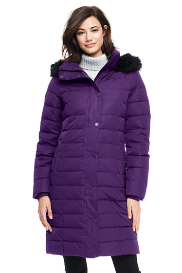 Women's Luxe Long Down Coat from Lands' End