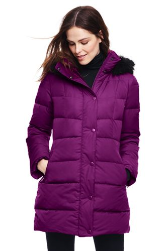 Women's Petite Refined Down Coat by Lands' End