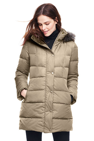 Women's Refined Down Coat from Lands' End
