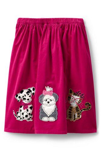 Little Girls' Appliqué Cord Skirt