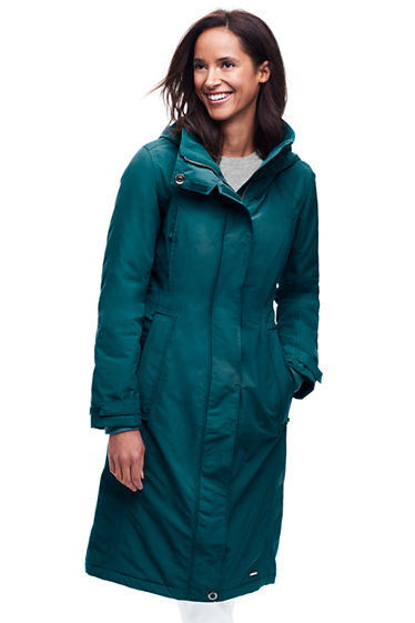 Women's Stadium Squall Long Coat from Lands' End