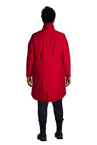 School Uniform Women's Plus Size Expedition Waterproof Down Winter Parka with Faux Fur Hood