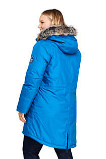 Women's Plus Size Expedition Waterproof Down Winter Parka with Faux Fur Hood, Back