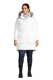 School Uniform Women's Plus Size Expedition Waterproof Down Winter Parka with Faux Fur Hood